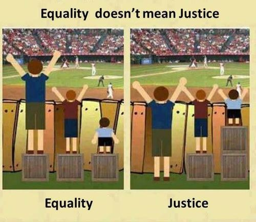 Equality does not mean justice.