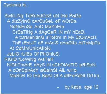 Dyslexia is...