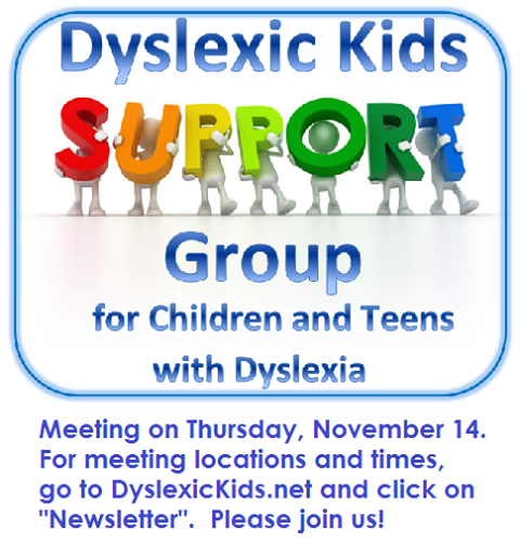 Dyslexic Kids Support Group