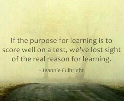 Purpose of learning