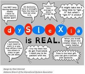 Dyslexia is real