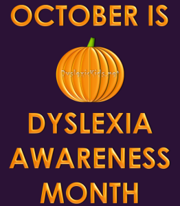 October Dyslexia Graphic